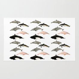 Dolphins and porpoises Rug