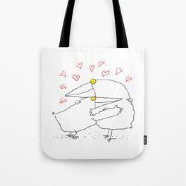 Bird Hug Tote Bag