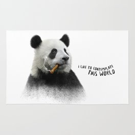 Panda contemplator Rug