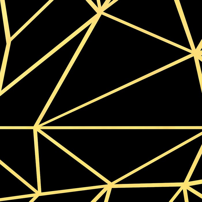 Abstract Outline Grid Gold Leggings