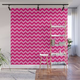Pink Morroccan Moods Chevrons Wall Mural