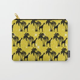 Giraffe Silhouette Tropical Palm Tree Leaves Zoo  Carry-All Pouch
