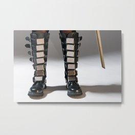 The Heroine Stands Metal Print