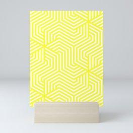 Yellow (RYB) - yellow - Minimal Vector Seamless Pattern Mini Art Print
