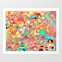 kpop Art Prints featuring Wackoblast! by Sillyrabs