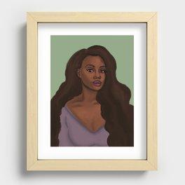 Leah African American Woman Recessed Framed Print