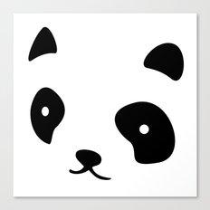 Minimalistic Panda face Canvas Print