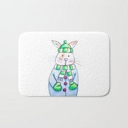 Winter Bunny Bath Mat