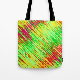 green red yellow geometric graffiti painting texture abstract background Tote Bag