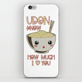 Udon Bowl Japanese Noodle Miso Soup iPhone Skin