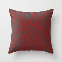 brussels Throw Pillows featuring Brussels by Map Map Maps