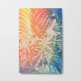 Fern and Fireweed 03 - Retro (everyday 07.01.2017) Metal Print