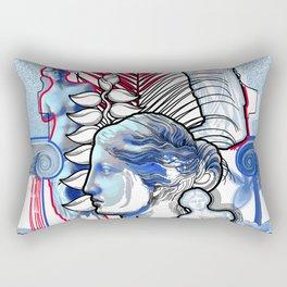 Anciet Design with Venus de Milo sculpture, column and flowers Rectangular Pillow