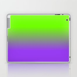 Neon Purple and Neon Green Ombré  Shade Color Fade Laptop & iPad Skin