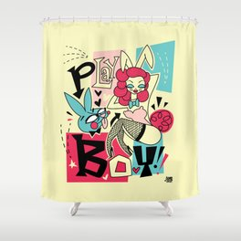 Play boy Bunny Shower Curtain