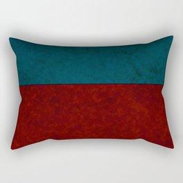 Blue and orange suede Rectangular Pillow
