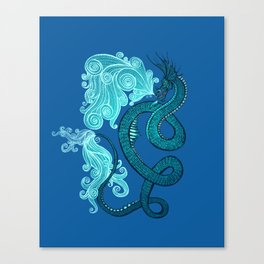 Ice Serpent Canvas Print