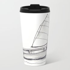 Sailboat, pen and ink Metal Travel Mug