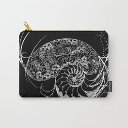 Black And White Shell Design Carry-All Pouch
