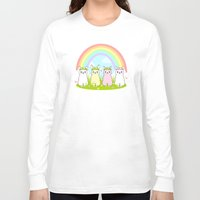 alpaca Long Sleeve T-shirts featuring Alpaca Paradise by rinicake