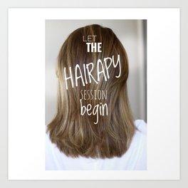 Hairstylist Art Print