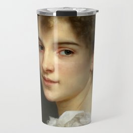 "William-Adolphe Bouguereau ""Portrait of Gabrielle Cot"" Travel Mug"