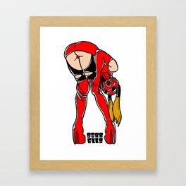 Red Rubber Baby Framed Art Print