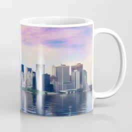 Pastel drawing of the New York Manhattan Skyline Coffee Mug