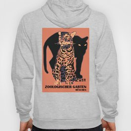 Retro vintage Munich Zoo big cats Hoodie