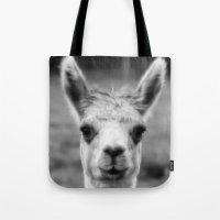 alpaca Tote Bags featuring Alpaca by Amie Amyotte