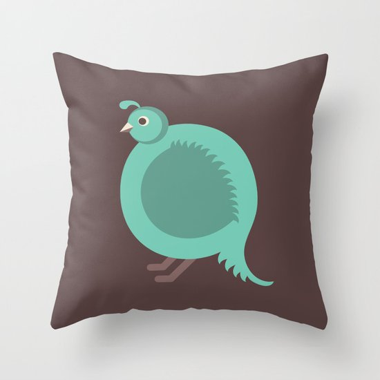 Letter Q // Animal Alphabet // Quail Monogram Throw Pillow