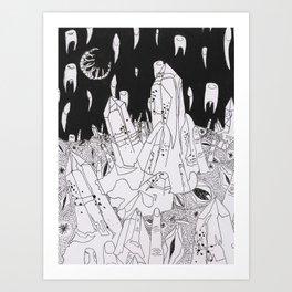 Crystal Fingering  Art Print