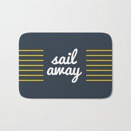 Sail Away Nautical Print Bath Mat