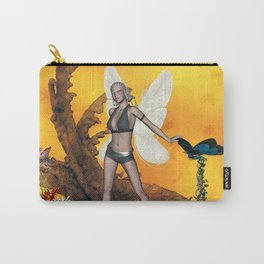 Beautifuk fairy with butterflies Carry-All Pouch