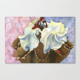 Topped with Whipped Cream Canvas Print