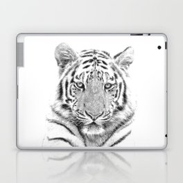 Black and white tiger Laptop & iPad Skin