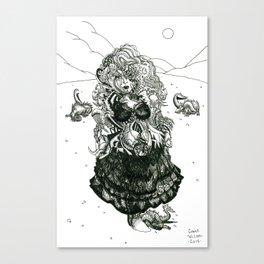 Trogette [Pen Drawing Fantasy Figure Illustration] Canvas Print