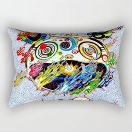 Takashi Murakami with Signature - Chaos Print Rectangular Pillow
