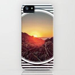 Peel Sunset  - line/circle graphic iPhone Case