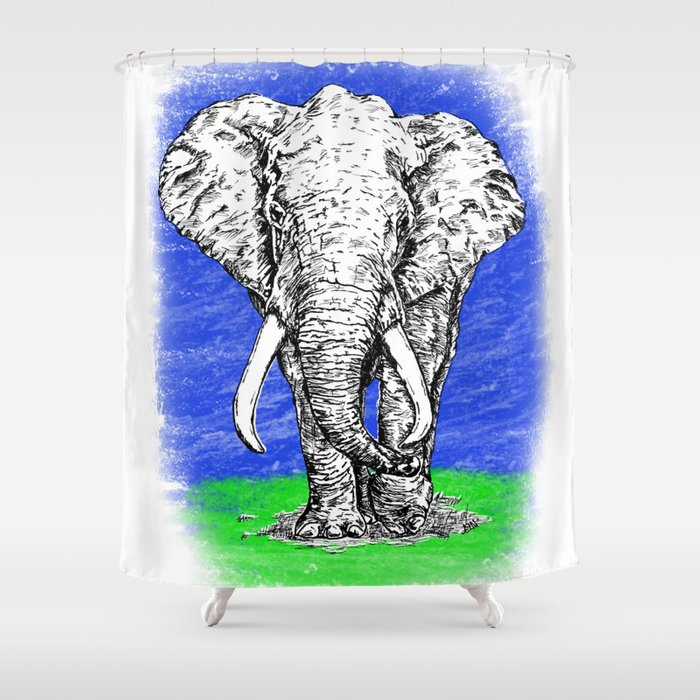 Tusk Shower Curtain