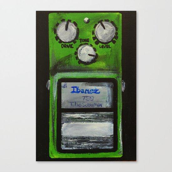 "Ibanez TS-9 Tube Screamer Guitar Pedal acrylics on 5"" x 7"" canvas board Canvas Print"
