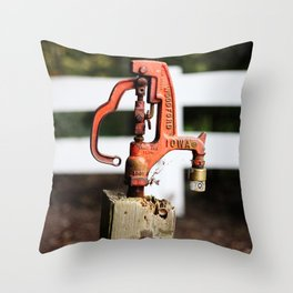 Red Spigot #2 Throw Pillow