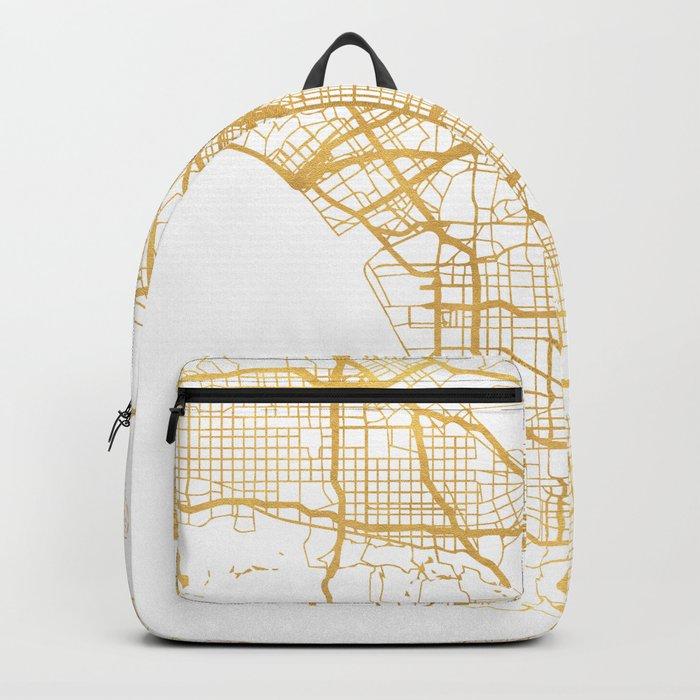 LOS ANGELES CALIFORNIA CITY STREET MAP ART Backpack