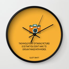 Taking pictures Wall Clock