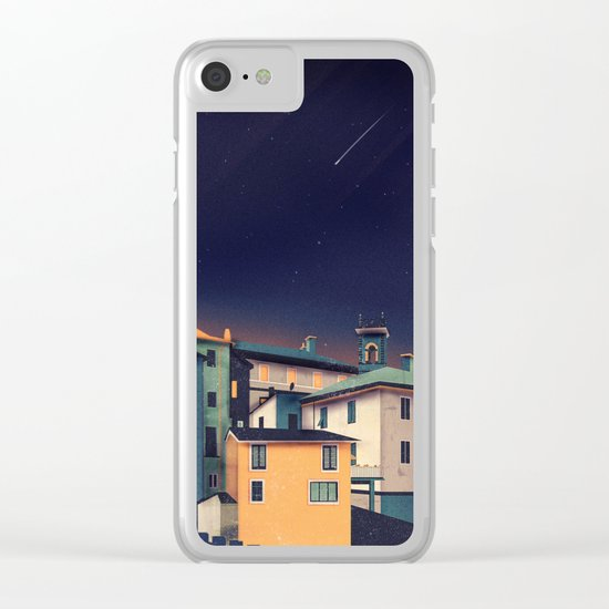 Castles at Night Clear iPhone Case