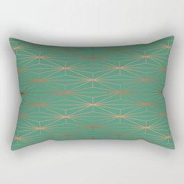 ELEGANT ROSEGOLD AQUAMARINE Rectangular Pillow