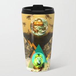 African lion Travel Mug