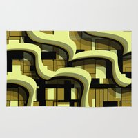 3d Area & Throw Rugs featuring 3d by Mickaela Correia