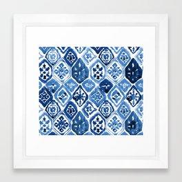 Arabesque tile art Framed Art Print