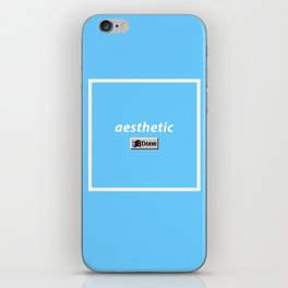 aesthetic done iPhone Skin